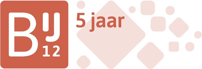 Logo van 5 jaar BIJ12