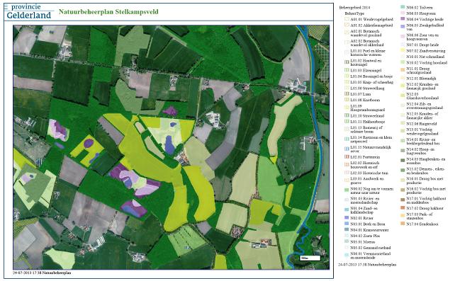 Figuur 9 beheertypen in Natuurbeheerplan Stelkampsveld
