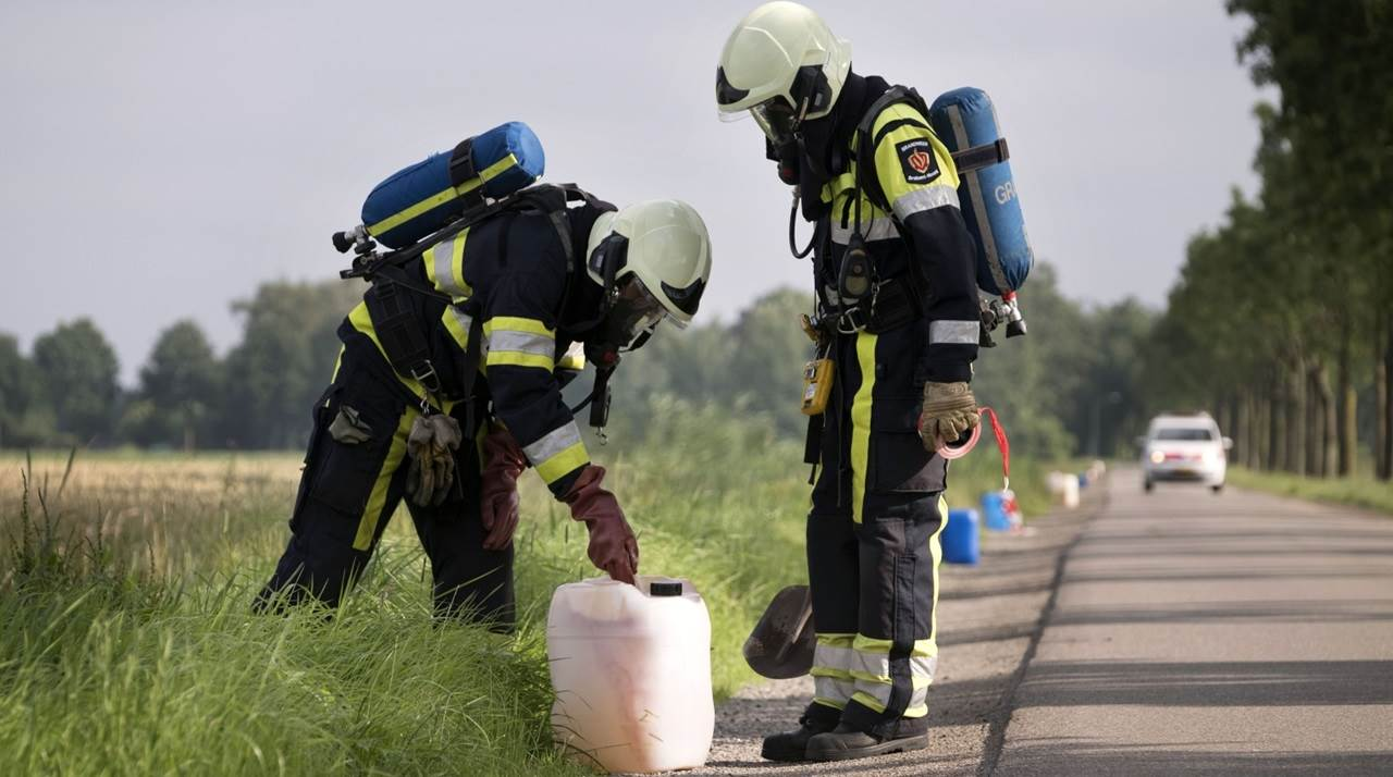 De opruiming van de drugsafval © provincie Noord-Brabant